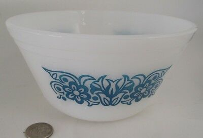 "Old  7""  Federal Blue Flower Decorated Mxing Bowl"