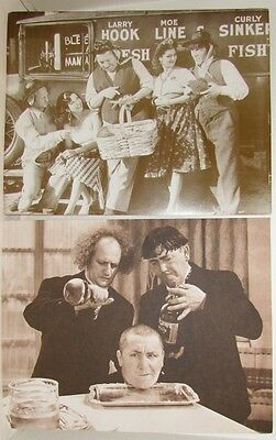 3 Stooges  Sepia Toned Prints, 11 X 14, 2 different