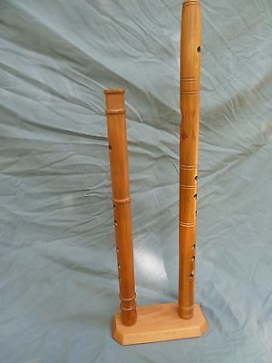 """Cherry """"cluster"""" flute stand...flute rack...holds 2 native american flutes"""