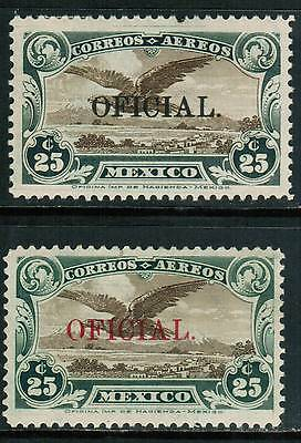 Mexico Air Mail Official 1929 Sc#CO1-CO2, Overprnt OFICIAL, MH  cp1