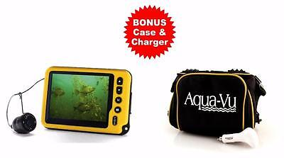 AQUA VU Micro AV II Underwater Ice Fishing Camera System BONUS Case & Charger