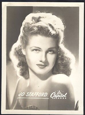 Jo Stafford Capitol Records promotional giveaway photo