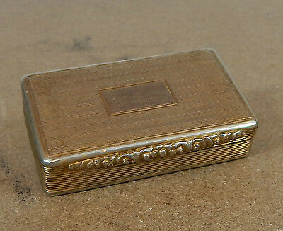 1820's Continental Silver Gilt Snuff Box Robert Bigsby Royal Sherwood foresters