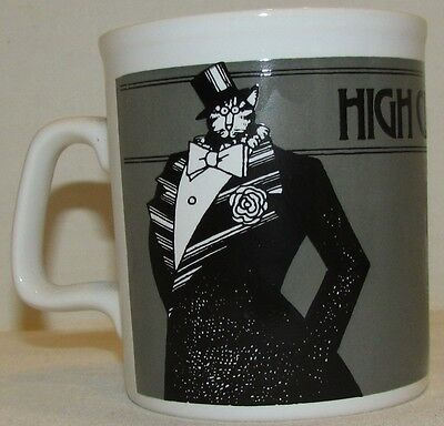 Kliban Cat Mug , High Class Cat, Made in England by Kiln Craft