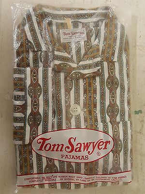 vintage BOYS PAJAMAS long sleeve TOM SAWYER 100% COTTON unused NOS size 10
