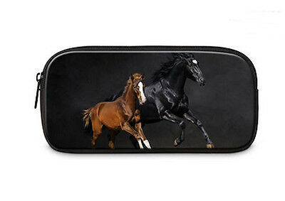 HORSE & WESTERN GIFTS OFFICE SCHOOL ART HOME EQUESTRIAN HORSES PENCIL CASE f
