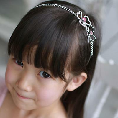 Kids Children Flower Girl Tiara Crown Headband Headpiece Wedding Bridal Prom