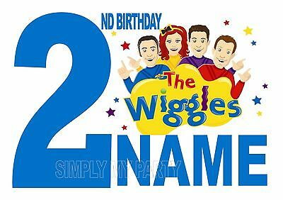 Iron On Transfer / Sticker - The Wiggles Birthday 1St 2Nd 3Rd Logo Emma, Lachy