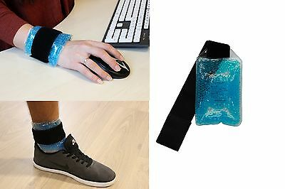 Gel Bead Wrist Ankle Reusable Hot Cold Heat Ice Gel Pack Sport First Aid  Pain