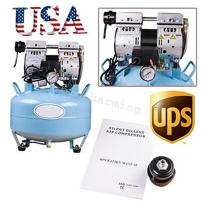 3/4HP Silent Oil free Oilless Air Compressor pressure motor For dental chair 30L