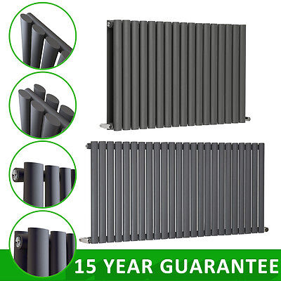 Horizontal Oval Column Panel Designer Radiator Heater Central Heating Anthracite