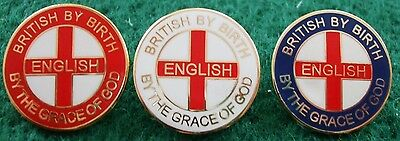 British By Birth English By The Grace Of God Pin Badge