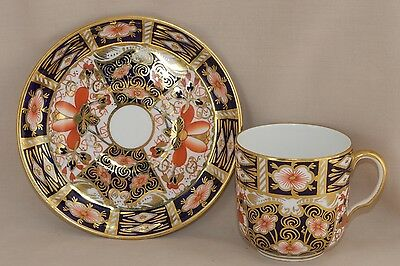 1928 Royal Crown Derby IMARI #2451 Footed Demitasse Cup & Saucer (Multi Avail)
