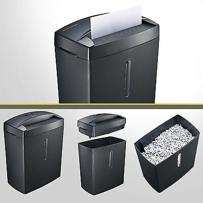Micro Cut Paper Shredder Thermal Use Home Office Portable Doc Shred Machine