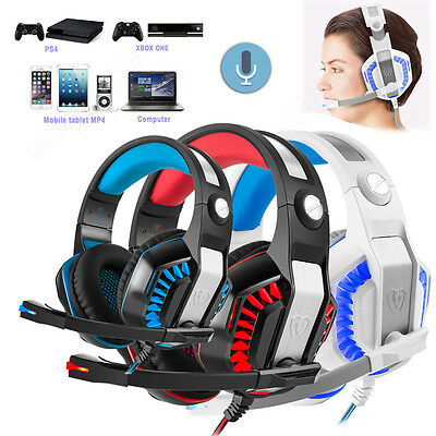 Beexcellent GM-2 Stereo Gaming Headphone Headset with Mic LED Light Fr PC Laptop