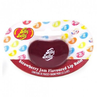 Jelly Belly Strawberry Jam Bean Shaped Tin 6g Lip Balm Care