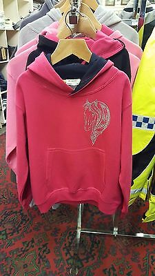 Pink Horse Head Hoodie Childrens Age 5/6 Brand New