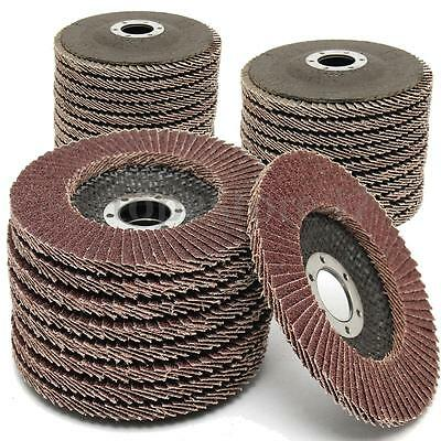 10/20/30X Flap Discs 115mm 4.5'' Sanding 60 Grit Grinding Wheels Top Quality