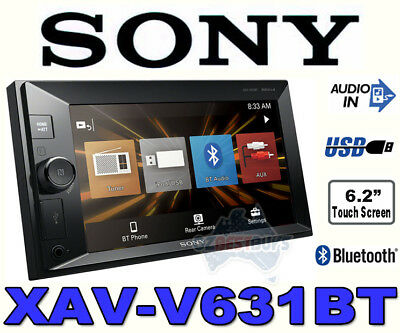 Sony Double Din Car Audio Media Receiver Bluetooth USB XAV-V630BT (NO CD/DVD)