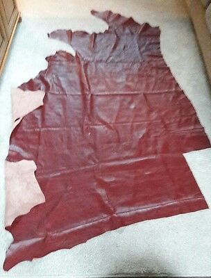 Quality  Red Leather  Hide