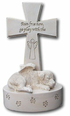 Dog resin memorial plaque...Run free now, go play with the Angels