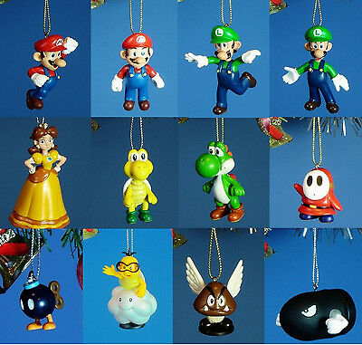 Decoration Ornament Home Party Xmas NINTENDO Super Mario Bros Set 12 pcs *R1to12
