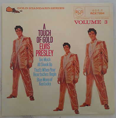 ELVIS PRESLEY - EP - RCX 7204 - A Touch of Gold Volume III  -  4 Titel