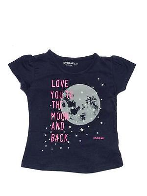 Baby Girls Size 0 ~ 8 - Top / T-Shirt Love you to the Moon print - Navy Blue