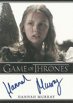 "Game of Thrones Season 5 - Hannah Murray ""Gilly"" Autograph Card"