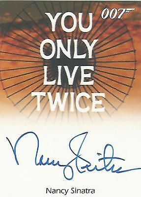 "James Bond 50th Anniversary - Nancy Sinatra ""Theme Song SInger"" Autograph Card"