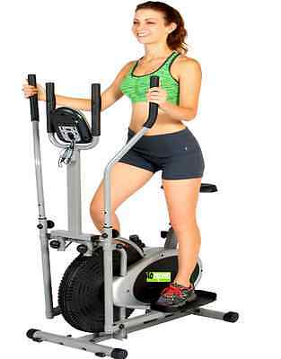 New 2 In 1 Elliptical Cross Trainer Exercise Bike Cardio Workout Gym Cardio