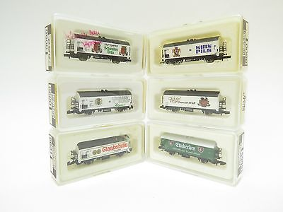 Marklin Z Gauge 8669-8600-8600-8631-8600-2402M Selection Of Wagons X6 (A1)