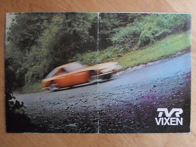 TVR VIXEN 1600 S2 orig 1969 UK Mkt Sales Brochure