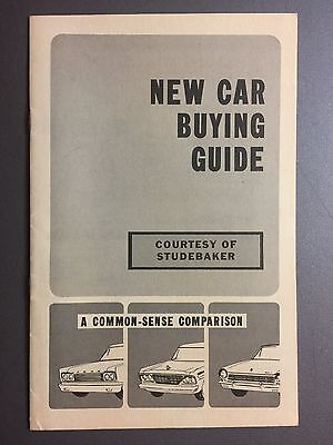 1964 Studebaker Buying Guide Showroom Advertising Sales Brochure RARE Awesome