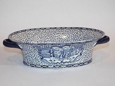 Large Adams Blue White Serving Dish 2 Handles Design 623294 Copy Chinese Pattern