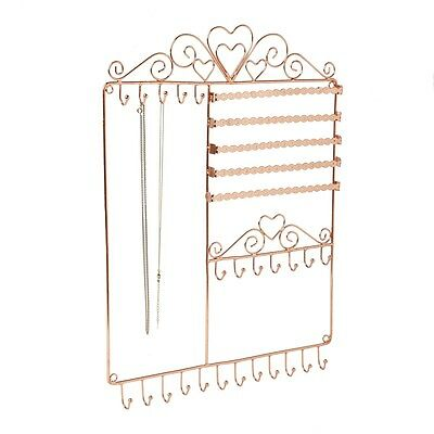 Copper Wall Jewellery Holder Display Stand for Earrings Bracelets Necklaces