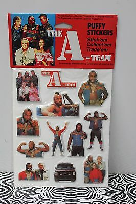 A-TEAM PUFFY STICKERS Mr. T TV Show Nostalgic Retro Vintage 80s Toy 1983 NEW