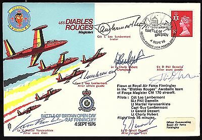 "Team Signed ""les Diables Rouge"" Battle Of Britain Cover Kb1982)"
