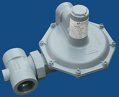 "Natural Gas Regulator, Sensus 143-80-2, 1-1/4""npt"