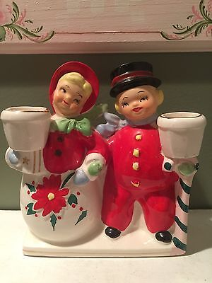 Vintage Christmas Ucagco Planter and Candle Holder