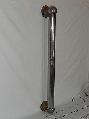 "Antique Art Deco Door Handle Pull Vtg Architectural Salvage 24"" Chrome"