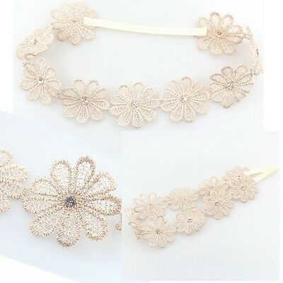 Girl Wedding Elastic Sunflower Hairband Baby Headband Bohemia Rhinestone