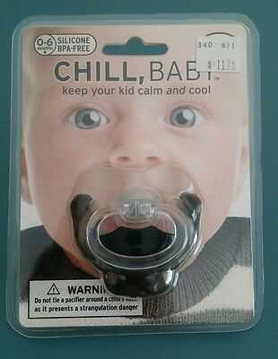 NEW Fred & Friends Chill Baby GOATEE MUSTACHE Silicone BPA Free Pacifier