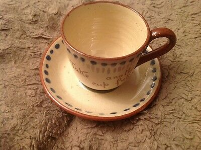 Torquayware Watcombe 'Take Another Cup Full' Teacup & Saucer