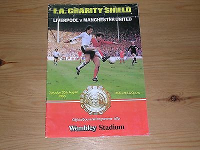 1983 F.A.CHARITY SHIELD  LIVERPOOL v MANCHESTER UNITED  20/08/1983