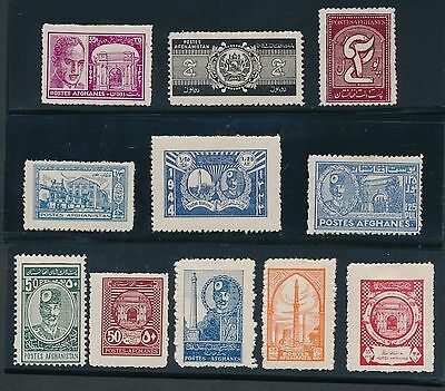 1931 - 1949 Afghanistan VARIOUS ISSUES AS LISTED; CAT VALUE $29.95