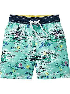 Old Navy baby toddler boys swim shorts trunks beach print NWT 12-18 2t 5t