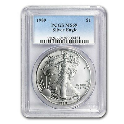 1989 American Eagle PCGS MS69 1 Oz Silver One Dollar Coin
