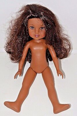 "Hearts 4 hearts Playmates 2010 Doll Brown Skin Naked 14"" Light Eyes"