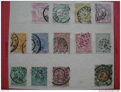 timbres Pays-Bas: roi Guillaume III 1876